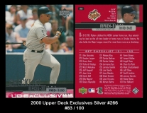 2000 Upper Deck Exclusives Silver #266