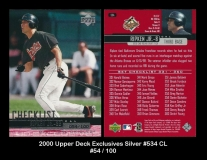 2000 Upper Deck Exclusives Silver #534 CL