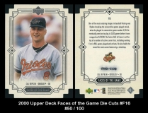 2000 Upper Deck Faces of the Game Die Cuts #F16