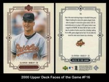 2000 Upper Deck Faces of the Game #F16