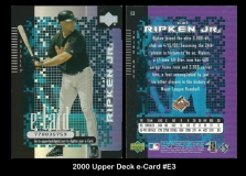 2000 Upper Deck e-Card #E3