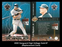 2000 Vanguard High Voltage Gold #7 Replacement Card
