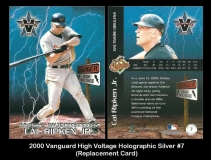 2000 Vanguard High Voltage Holographic Silver #7 Replacement Card