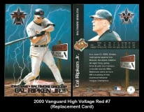 2000 Vanguard High Voltage Red #7 Replacement Card