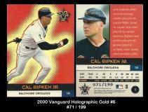 2000 Vanguard Holographic Gold #6