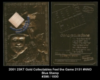 2001 23KT Gold Collectables Feel the Game 2131 #NNO Blue Stamp