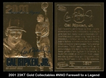 2001 23KT Gold Collectables #NNO Farewell to a Legend
