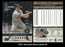 2001 Absolute Memorabilia #3