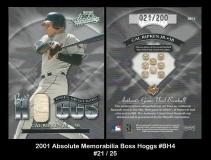 2001 Absolute Memorabilia Boss Hoggs #BH4