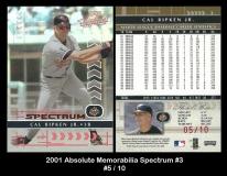 2001 Absolute Memorabilia Spectrum #3