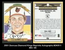 2001 Donruss Diamond Kings Reprints Autographs #DKR11
