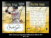 2001 Donruss Signature Milestone Marks #27