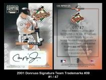 2001 Donruss Signature Team Trademarks #39