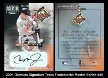 2001 Donruss Signature Team Trademarks Master Series #40