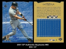 2001 SP Authentic Buybacks #65