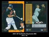 2001 SP Authentic Buybacks #66