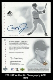 2001 SP Authentic Chirography #CR