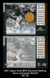 2001 Upper Deck MVP Souvenirs Batting Glove Autograph #SGCR