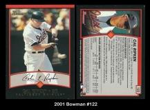 2001 Bowman #122