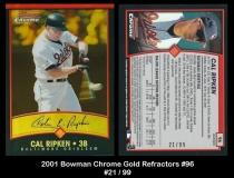 2001 Bowman Chrome Gold Refractors #96