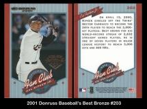 2001 Donruss Baseball's Best Bronze #203