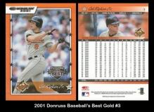 2001 Donruss Baseball's Best Gold #3