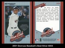2001 Donruss Baseball's Best Silver #203