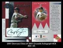 2001 Donruss Class of 2001 Crusade Autograph #C8