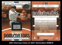 2001 Donruss Class of 2001 Dominators #DM18