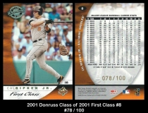 2001 Donruss Class of 2001 First Class #8