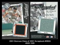 2001 Donruss Class of 2001 Scrapbook #SB24