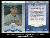 2001 Donruss Diamond Kings Studio Series #DK2 Replacement Card