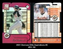 2001 Donruss Elite Aspirations #3