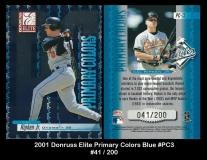 2001 Donruss Elite Primary Colors Blue #PC3