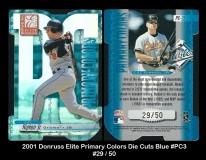 2001 Donruss Elite Primary Colors Die Cuts Blue #PC3