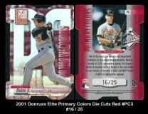 2001 Donruss Elite Primary Colors Die Cuts Red #PC3