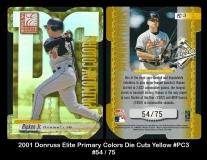 2001 Donruss Elite Primary Colors Die Cuts Yellow #PC3