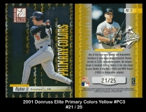 2001 Donruss Elite Primary Colors Yellow #PC3