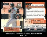 2001 Donruss Elite Prime Numbers Die Cuts #PN4B