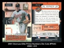 2001 Donruss Elite Prime Numbers Die Cuts #PN4C