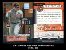 2001 Donruss Elite Prime Numbers #PN4A