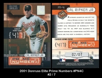 2001 Donruss Elite Prime Numbers #PN4C