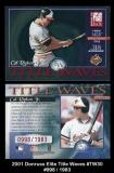 2001 Donruss Elite Title Waves #TW30