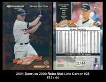 2001 Donruss 2000 Retro Stat Line Career #23
