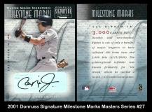 2001 Donruss Signature Milestone Marks Masters Series #27