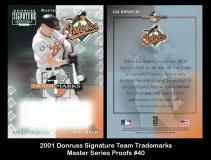 2001 Donruss Signature Team Trademarks Master Series Proofs #40