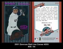 2001 Donruss Stat Line Career #203