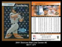 2001 Donruss Stat Line Career #3
