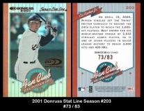 2001 Donruss Stat Line Season #203
