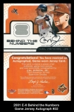 2001 E-X Behind the Numbers Game Jersey Autograph #32
